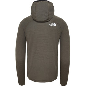 The North Face Summit L2 Power Grid LT Hoodie Jacket Herre New Taupe Green